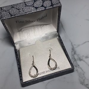 Silver Plated Marcasite Earrings